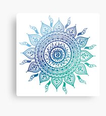 Blue Gradient Mandala  Metal Print