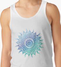 Blue Gradient Mandala  Tank Top
