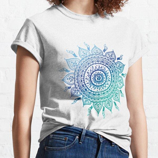 Blue Gradient Mandala  Classic T-Shirt
