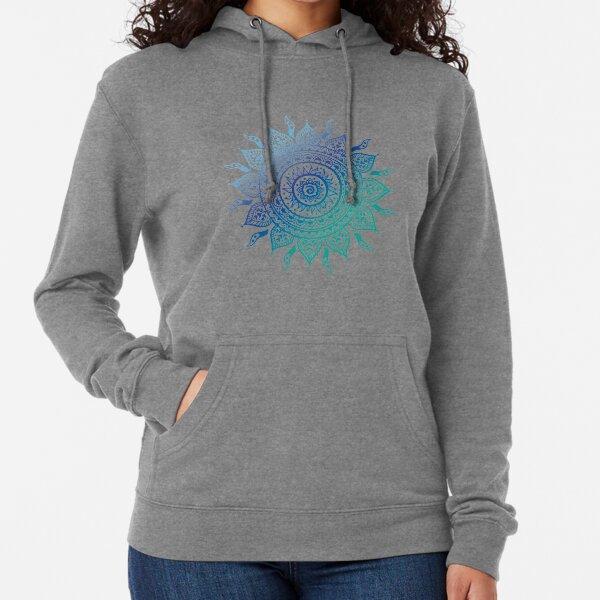 Blue Gradient Mandala  Lightweight Hoodie