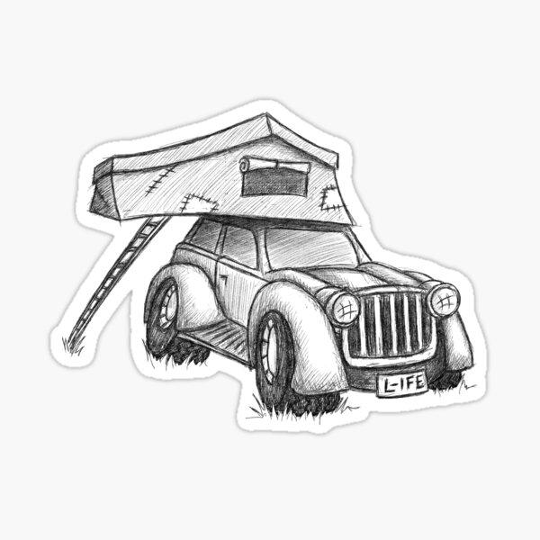 Dachzelt Offroad Camper Karre Sticker