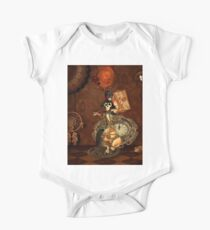 Funny steampunk skeleton, clocks and gears One Piece - Short Sleeve