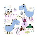 Cool T-rex Fun party Blue #homedecor by susycosta