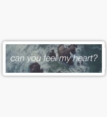 Can you feel my heart? Sticker