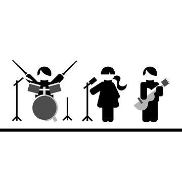 Music band flat design by SooperYela