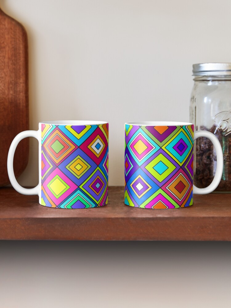 Alternate view of Modern Retro Diamonds Mug
