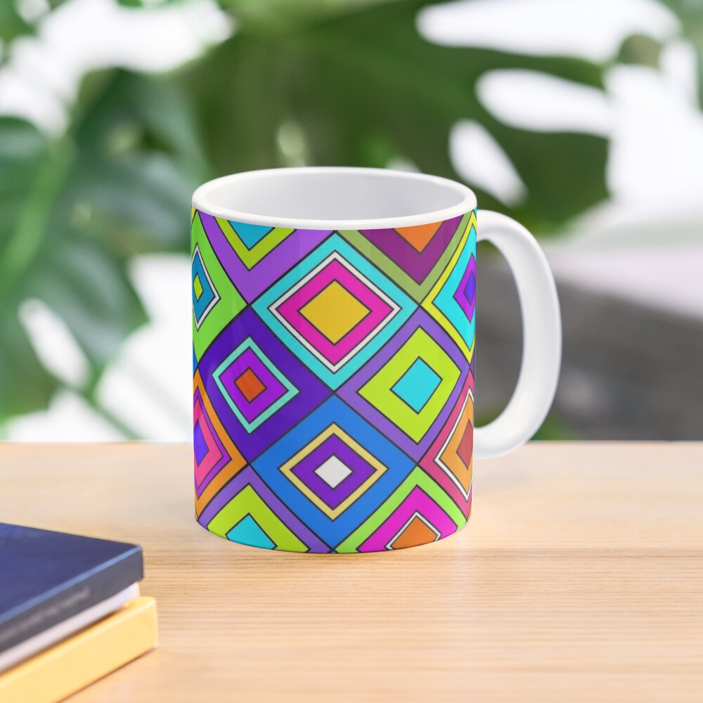 Modern Retro Diamonds Mug