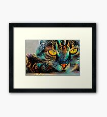 Mosaic Cat Framed Print