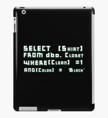 Select Clean Black Shirt From Closet iPad Case/Skin