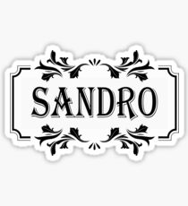 Frame Name Sandro Sticker