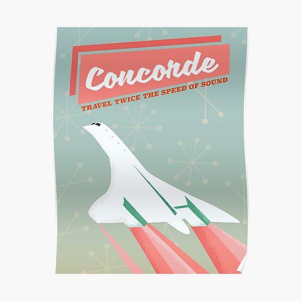 Concorde vintage voyage poseur Poster