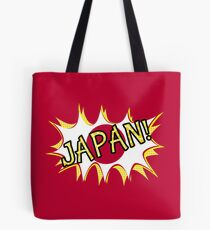 Japanese Flag Comic Book Style Tote Bag