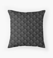 Dark Cube Pattern Throw Pillow