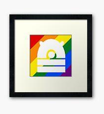 Rainbow Dalek Framed Print