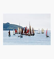Falmouth Parade of Sail and Power at St Anthony Lighthouse Photographic Print