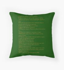 Emerald Tablet of Hermes  Throw Pillow