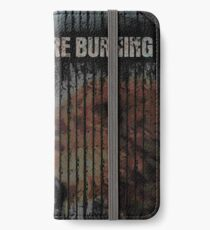keep the fire burning iPhone Flip-Case/Hülle/Skin