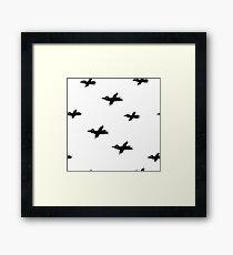 Sketche ravens Framed Print