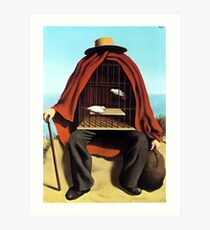 The therapeutist Rene, Magritte Art Print