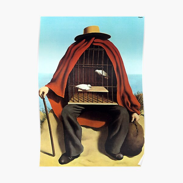 The therapeutist  Rene, Magritte Poster
