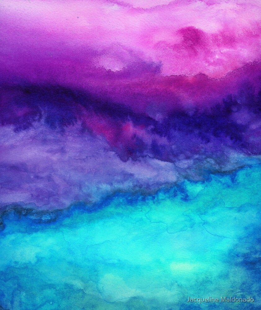 "Abstract Ombre Watercolor"" By Jacqueline"