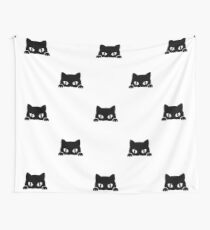 Colage Gatos Negros Wall Tapestry