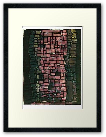 Pink graffiti graphic print graffiti pattern by AlyinWonderland