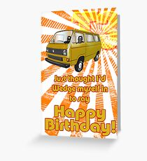 Volkswagen Kombi - Happy Birthday Greeting Card