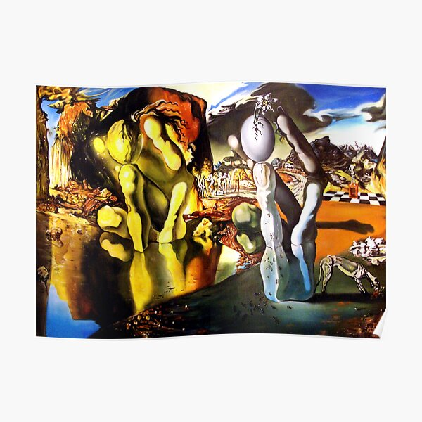 Metamorphosis of Narcissus Salvador Dali Poster