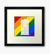 TARDIS PRIDE Framed Print