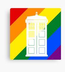 TARDIS PRIDE Canvas Print