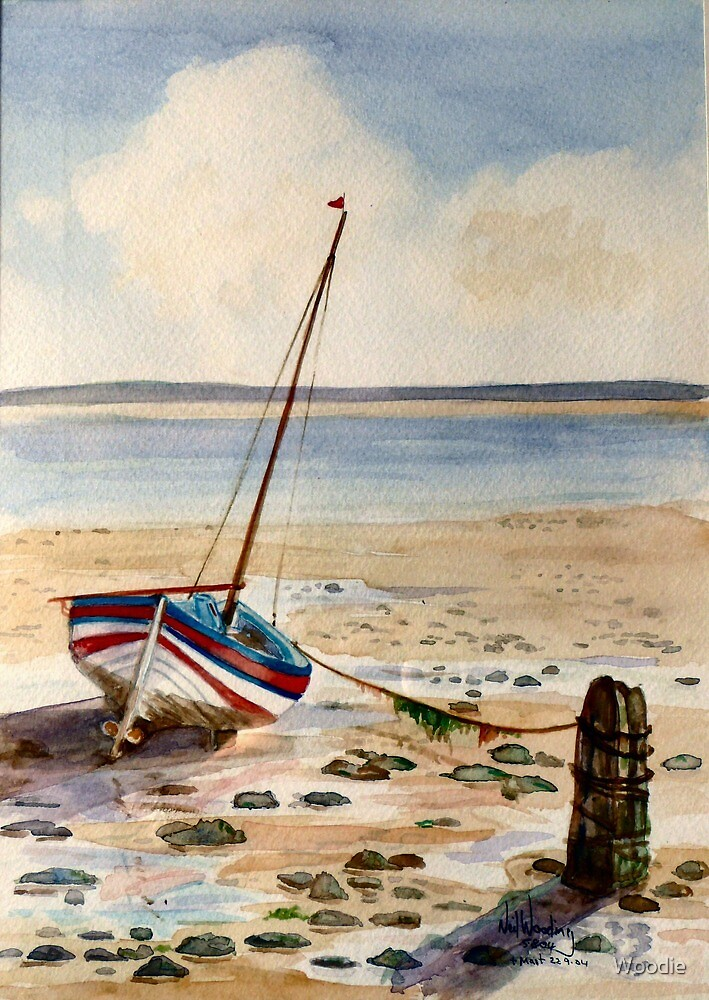 MIZPAH Beached Boat  by Woodie