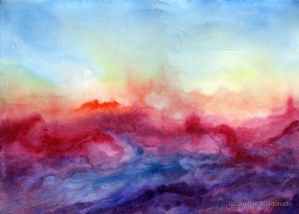 Quot Arpeggi Abstract Watercolor Ombre Quot By Jacqueline