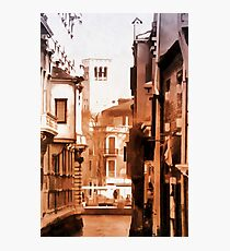 Looking Through To A View Venice Vintage Look Photographic Print