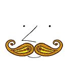 Paisley Mustache by SusanSanford