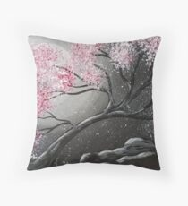 Snow in Spring Throw Pillow