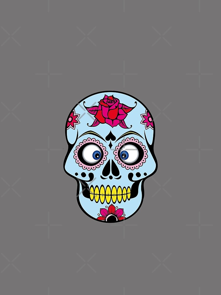 Funny colorful cross-eyed skull by Vectorbrusher