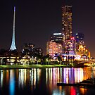 Melbourne by The Yarra by RichardIsik