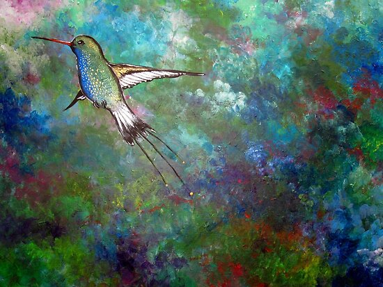 """""""Flight of the Hummingbird"""" by Sally Ford"""