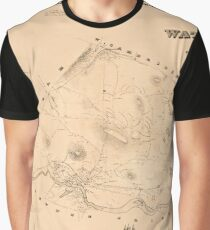 Map Of Watertown 1850 Graphic T-Shirt