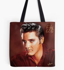 Elvis Presley Illustration The all time greatest hits. Tote Bag