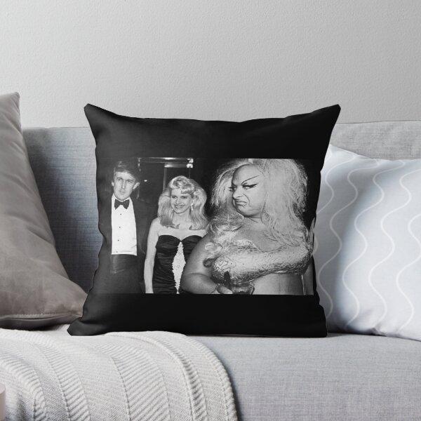 Divine meets Trump Throw Pillow