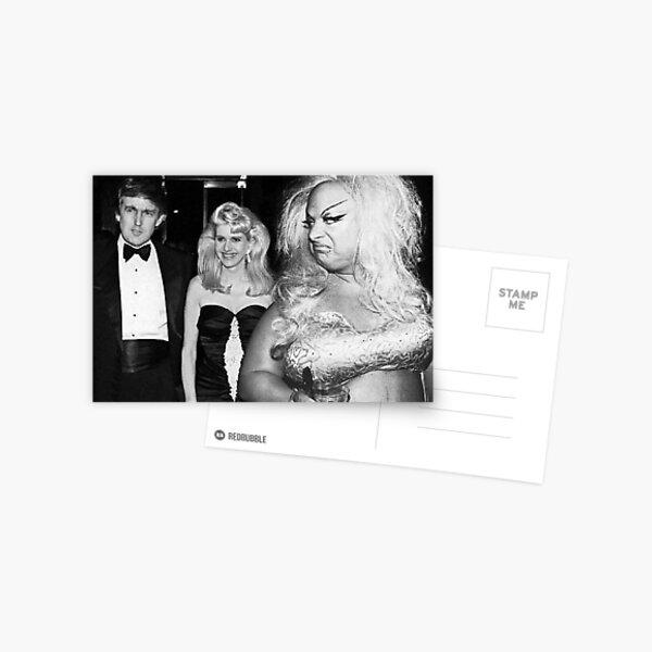 Divine meets Trump Postcard