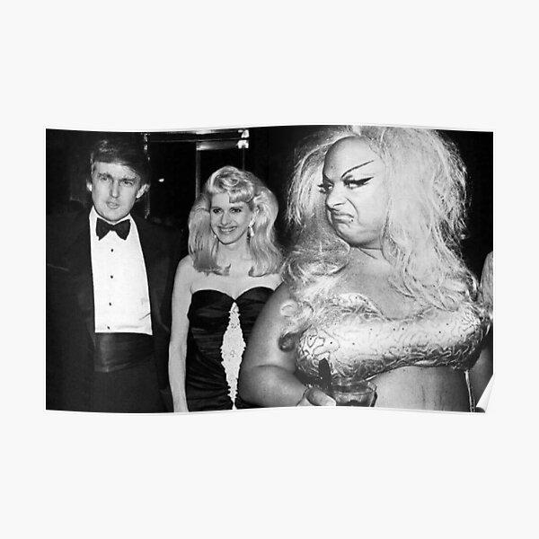 Divine meets Trump Poster
