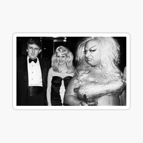 Divine meets Trump Sticker