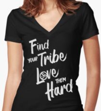 Find Your Tribe - BDSM Triskelion  Women's Fitted V-Neck T-Shirt
