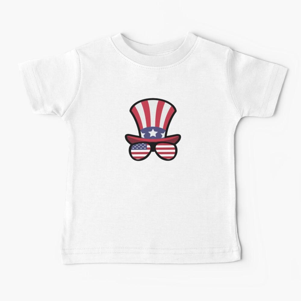 Elk Happy 4th Of July Camiseta para bebés