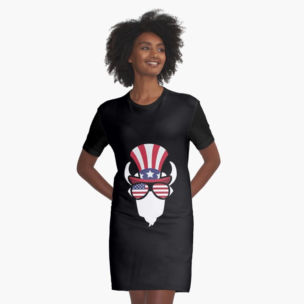 Buffalo Happy 4th Of July Vestido camiseta