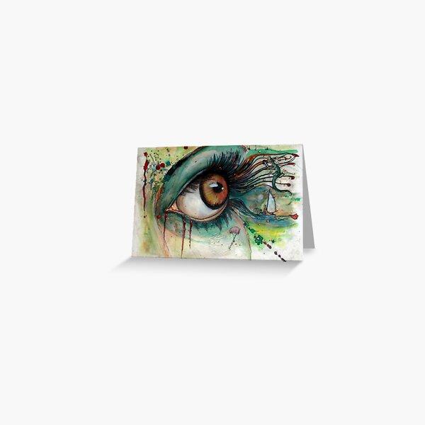 Augenzwinkern - 2 Grußkarte