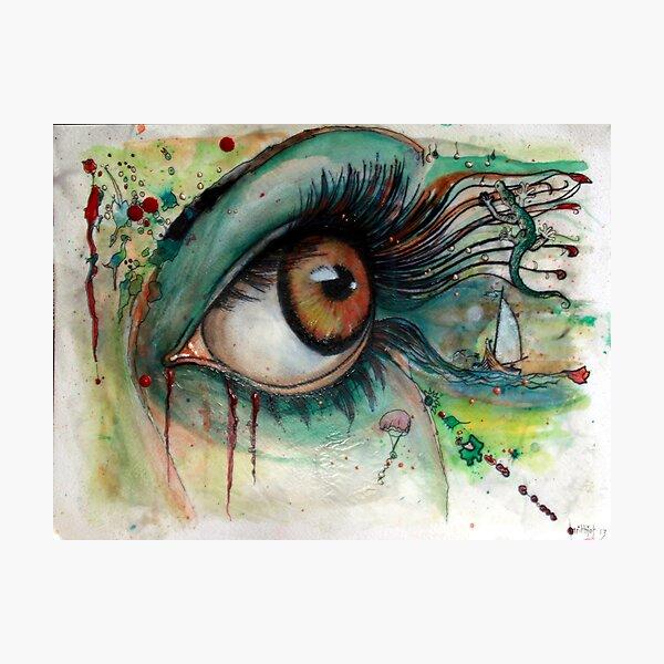 Augenzwinkern - 2 Fotodruck